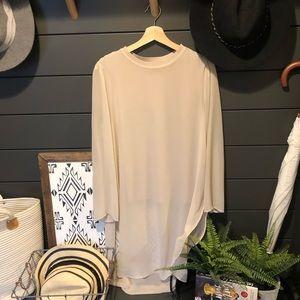 Zara long sheer top